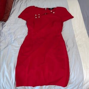 Versace red dress size 40